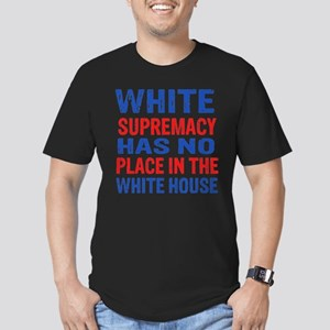 Anti Trump designs Men's Fitted T-Shirt (dark)