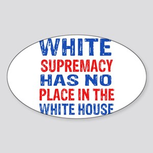 Anti Trump designs Sticker (Oval)