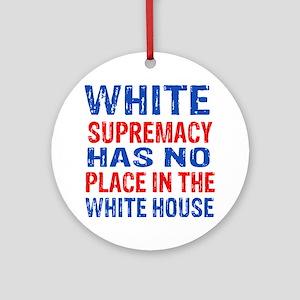 Anti Trump designs Round Ornament