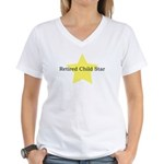 Retired Child Star Women's V-Neck T-Shirt