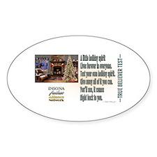 Believer Test Sticker (Oval)