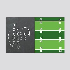 Football Game Day Play 35x21 Wall Decal