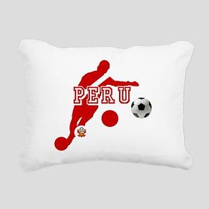 Peru Football Player Rectangular Canvas Pillow