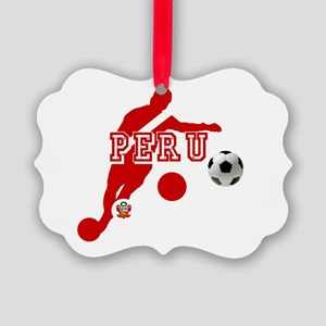 Peru Football Player Picture Ornament