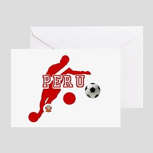 Peru Football Player Greeting Card