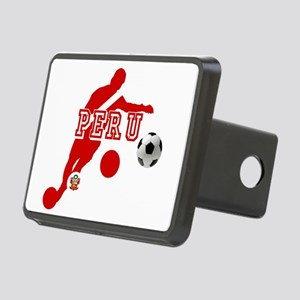 Peru Football Player Rectangular Hitch Cover