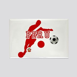 Peru Football Player Rectangle Magnet