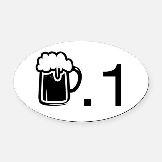 Run For Beer (beer.1) Oval Car Magnet
