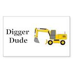 Digger Dude Sticker (Rectangle 10 pk)