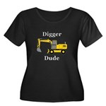 Digger D Women's Plus Size Scoop Neck Dark T-Shirt