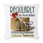 Editor HeartStab Woven Throw Pillow