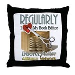 Editor HeartStab Throw Pillow