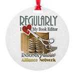 Editor HeartStab Round Ornament