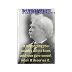 Twain on Patriotism Rectangle Magnet