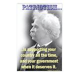 Twain on Patriotism Postcards (Package of 8)