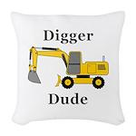 Digger Dude Woven Throw Pillow