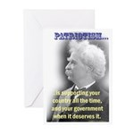 Twain on Patriotism Greeting Cards (Pk of 10)