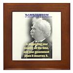 Twain on Patriotism Framed Tile
