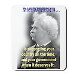 Twain on Patriotism Mousepad