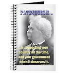 Twain on Patriotism Journal