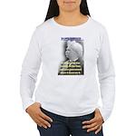 Twain on Patriotism Women's Long Sleeve T-Shirt