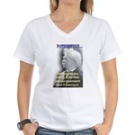 Twain on Patriotism Women's V-Neck T-Shirt