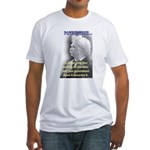 Twain on Patriotism Fitted T-Shirt
