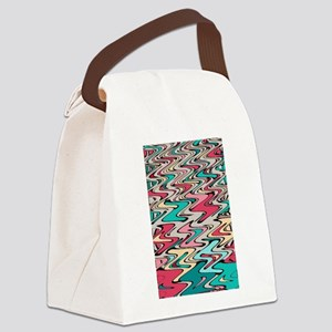 Distorted Paint Runs Canvas Lunch Bag