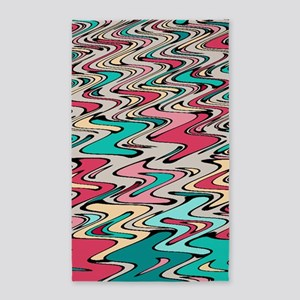 Distorted Paint Runs Area Rug