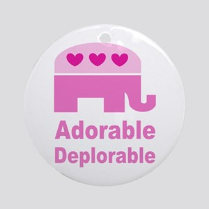 Adorable Deplorable Round Ornament