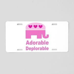Adorable Deplorable Aluminum License Plate