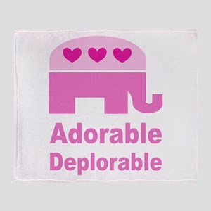Adorable Deplorable Throw Blanket