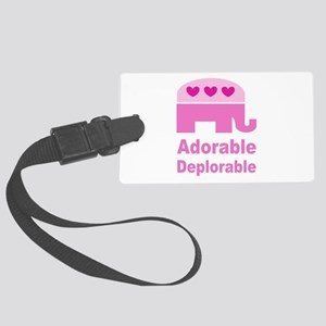 Adorable Deplorable Large Luggage Tag
