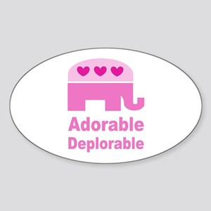 Adorable Deplorable Sticker (Oval)