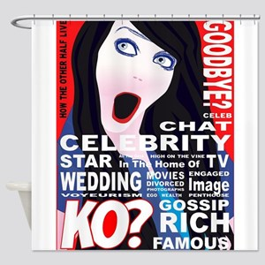 Celebrity Magazine Cover Shower Curtain