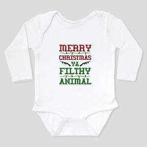 Merry Christmas Ya Filthy Animal funny Body Suit