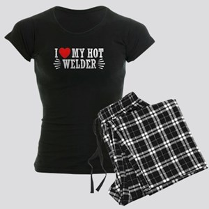 I Love My Hot Welder Women's Dark Pajamas