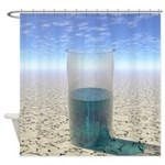 Glass of Water Shower Curtain