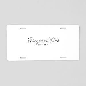 Diogenes Club Aluminum License Plate