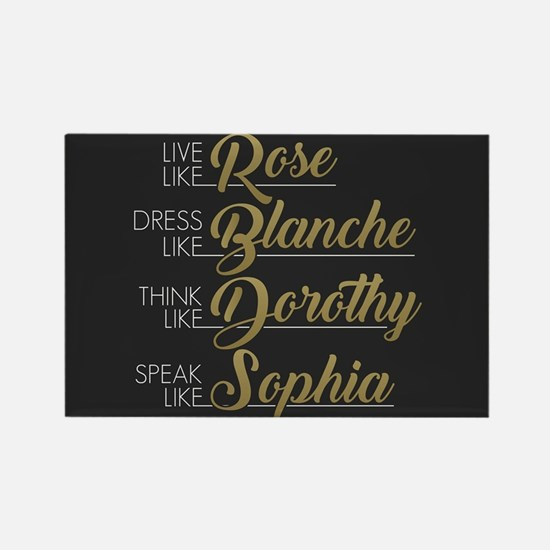 Live, Dress, Think, Speak Rectangle Magnet
