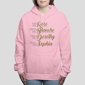 Live, Dress, Think, Spea Women's Hooded Sweatshirt