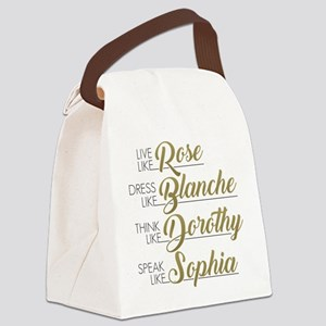 Live, Dress, Think, Speak Canvas Lunch Bag