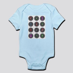 Astrology Icon Buttons Body Suit