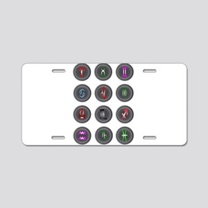 Astrology Icon Buttons Aluminum License Plate