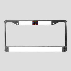 Oval Button Funny License Plate Frame