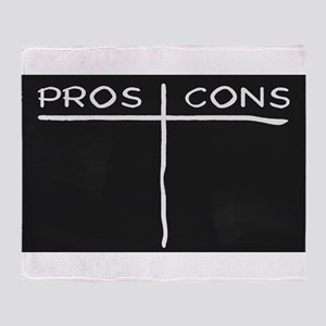 Pros and Cons Throw Blanket