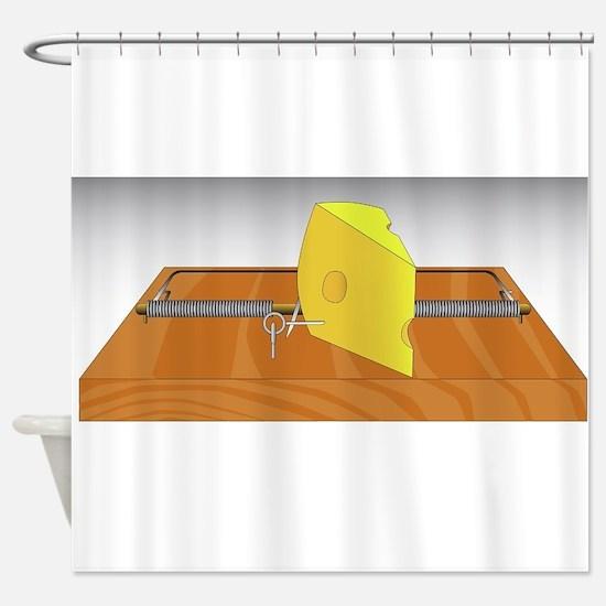 Mousetrap Shower Curtain