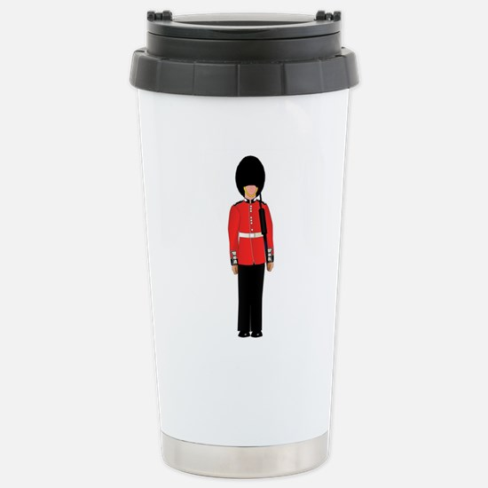 British Soldier On Guar Stainless Steel Travel Mug