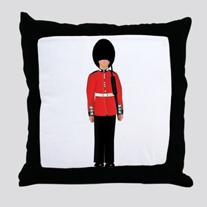 British Soldier On Guard Duty Throw Pillow