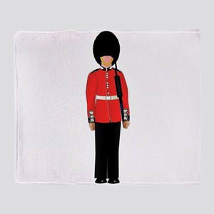 British Soldier On Guard Duty Throw Blanket